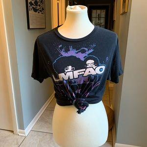 Black LFMAO 90's Band T shirt.